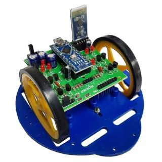MB103: หุ่นยนต์ MicroBot ควบคุมด้วยโทรศัพท์มือถือ (บลูทูธ)