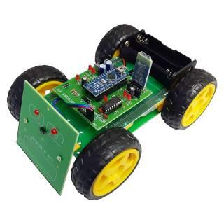 MB107: หุ่นยนต์ MicroBot 4WD ควบคุมด้วยโทรศัพท์มือถือ (บลูทูธ)