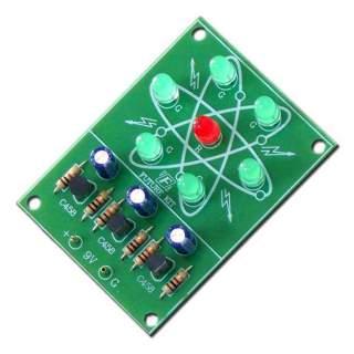 150FA: วงจรไฟวิ่งรูปอะตอม LED 7 ดวง