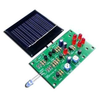 1003FA: ไฟกระพริบเตือน ใช้โซลาร์เซลล์ LED 5 ดวง