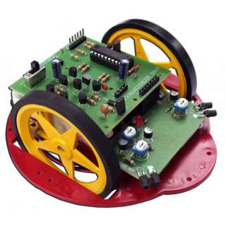 1110FA: หุ่นยนต์วิ่งหลบสิ่งกีดขวาง MICRO AVR2