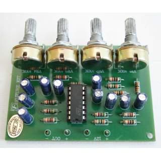 652FA: ปรีไมค์มิกเซอร์ 3 ช่อง ระบบไอซี 4 วอลลุ่ม